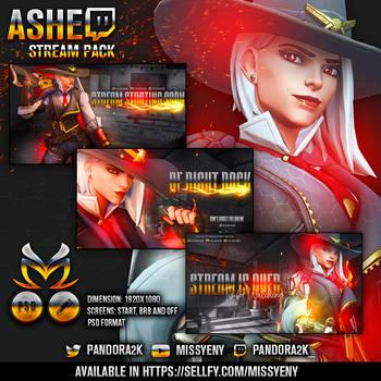 Overwatch Ashe - Stream Pack by MissYeny