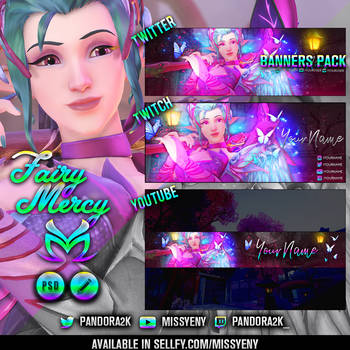 OVERWATCH MERCY FAIRY BANNER PACK by MissYeny
