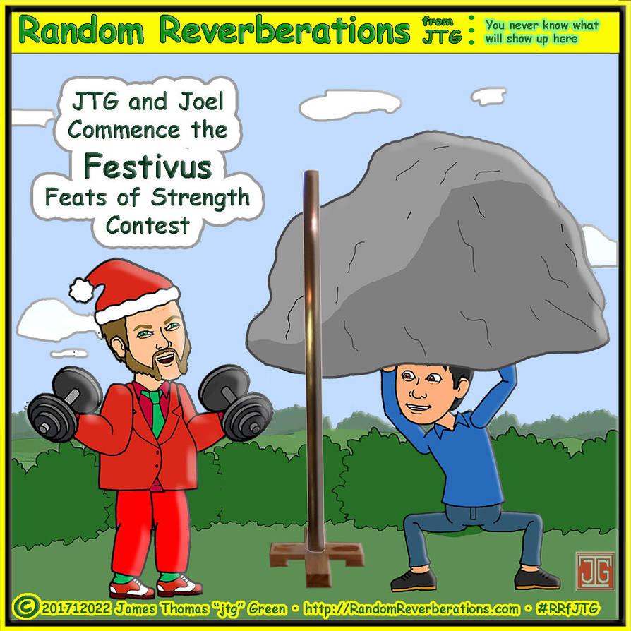 Cartoon JTG and Cartoon Joel celebrate Festivus by RRfjtg