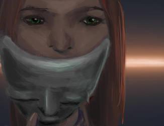 Skyrim-inspired girl by Lumarie