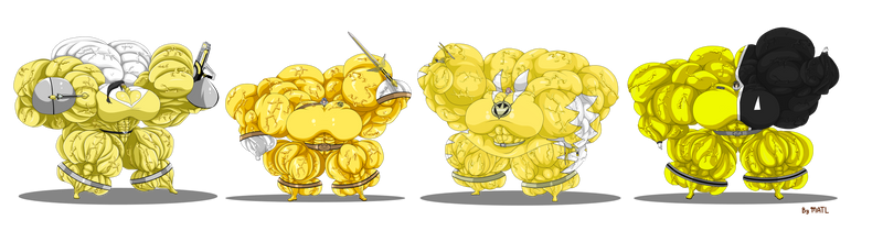 Waifu Yellow Groupshot 2 By Matl by ulquiorra461372