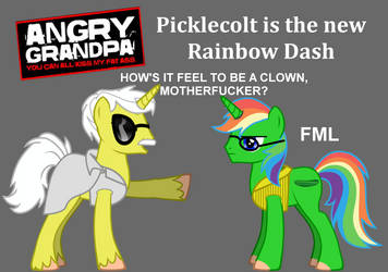 Picklecolt is the new Rainbow Dash by HomerBouvier