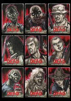 Walking Dead Comic Book Sketchcards 1 by Guy-Bigbelly