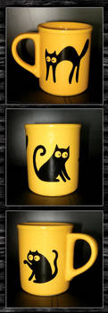 black cats cup by Gh0st-0f-Me
