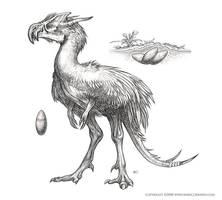 Terror Bird sketch by MIKECORRIERO
