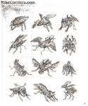 Feathered Insect Thumbnails by MIKECORRIERO