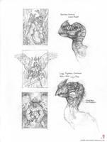 Terrorbird head + thumbnails by MIKECORRIERO