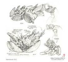 Ant eater/armadillo Chamidillo sketches by MIKECORRIERO