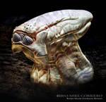 Bucketmouth Alien by MIKECORRIERO