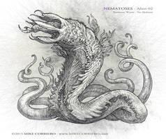Nematoses-Alien-02 worms by MIKECORRIERO