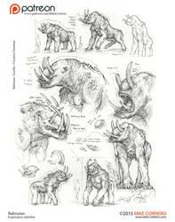 Babrutan-sketch-exploration-MikeCorriero-web by MIKECORRIERO