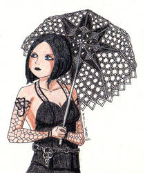 Somber heroine by Leaf-nin