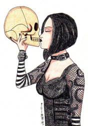 Kiss the skull by Leaf-nin