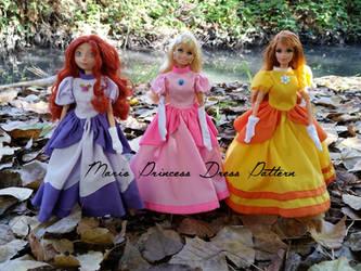 Super Mario Princess Dress sewing pattern! by Leaf-nin