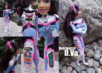 OW: D.Va custom doll commission by Leaf-nin
