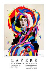 Layers Poster Erik Jones show by theirison
