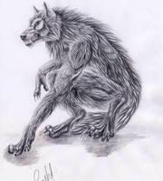 Werewolf graphite by punxnotdead309