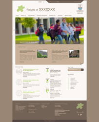 Faculty website template by sarawebdesigner