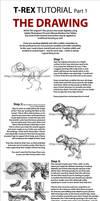 T-Rex Tut Pt 1: Drawing by Tonygenio