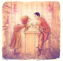 Severus and Hermione by Yulashka