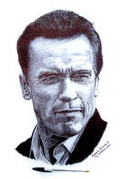 Arnold Schwarzenegger- by RobertoBizama