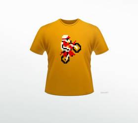 T-Shirt 4 - Excitebike by darioart