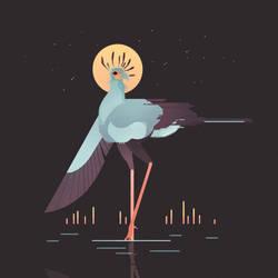 Secretarybird by Munkell