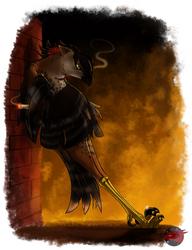 Smoking hawk by BudgieBluBird
