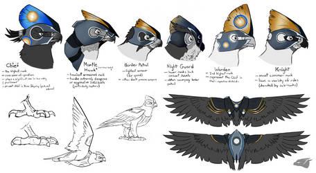 Knights armor concept chart by BudgieBluBird