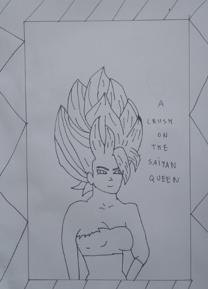 A Crush on the Saiyan Queen- Cover by KakaArtist