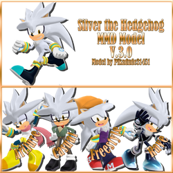 MMD Silver the Hedgehog model download [V.2.0] by Pikadude31451