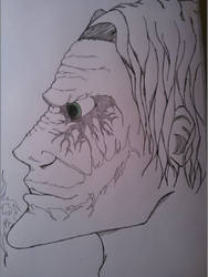 The Joker | Outlined | Face by Finding-The-Time