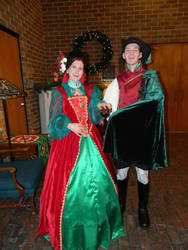 Madrigal Gown and Madrigal Doublet by LadyAutumnIvy