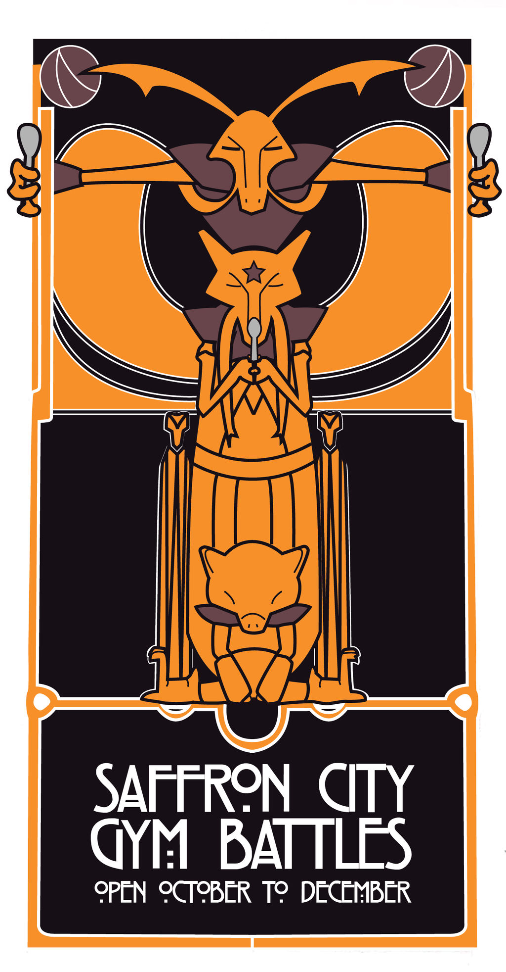 Saffron City Glasgow School Poster by Dingbat1991