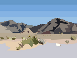 Low-Poly Desert Landscape 2 by Dingbat1991