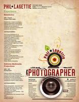 Resume - Photographer 2 by OrangeResume