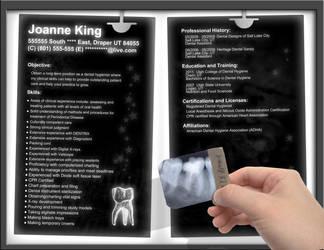 Resume - Dentist X-Ray by OrangeResume