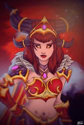 ALEXSTRASZA - Queen of dragons - 2018 by Emma-Draw