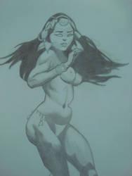 Woman Frazetta by fonchink