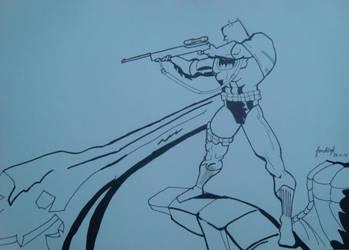 Batman on TDKR by Frank Miller by fonchink