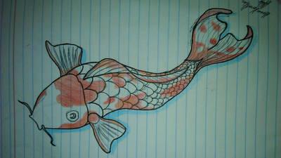 koi fish by fonchink
