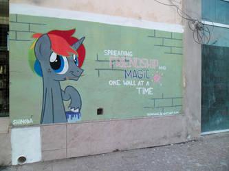 One wall at a time - Krylone Graffiti by ShinodaGE