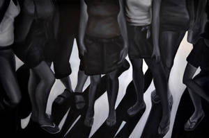 Shadow vs reality, 2012, 120-80cm, oil on canvas by oanaunciuleanu