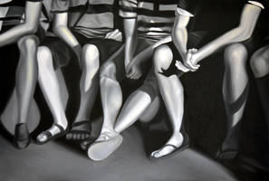 Hanging out, 2012, 120-80cm, oil on canvas by oanaunciuleanu