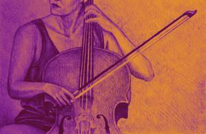 Cello player drawing. by oanaunciuleanu