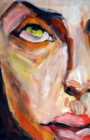 Explosive Colorful Portrait Painting by oanaunciuleanu