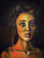 Mystery, 30-20cm, 2017, oil on canvas by oanaunciuleanu