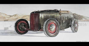 Ford '32 (On the salt) by fredlaurent47