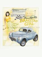 Dragstrip girl ( '41 Willys ) - 2013 - 36x48 by fredlaurent47