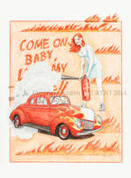 Come on Baby ( '39 Ford ) - 2013 - 36x48 by fredlaurent47